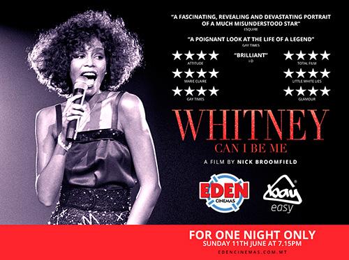 Whitney Houston Eden Cinemas Malta